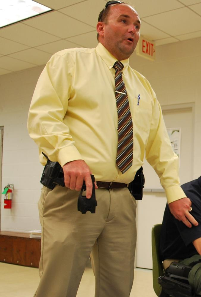 Captain Nick Rogers Demonstrating How Tasers Work.jpg
