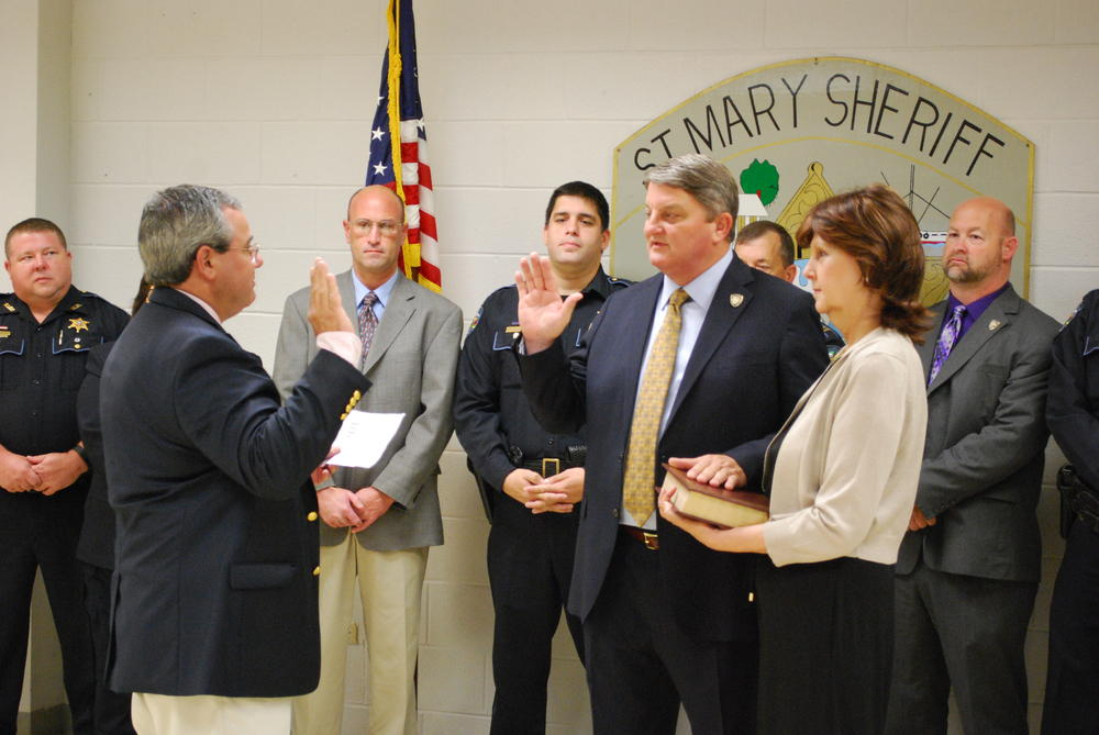 Sheriff Hebert Being Sworn In.JPG