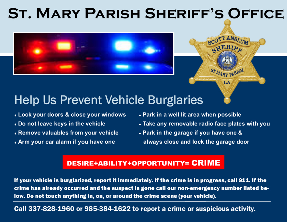 Vehicle Burglary Prevention Tips Red&Blue April 2018 #2.png