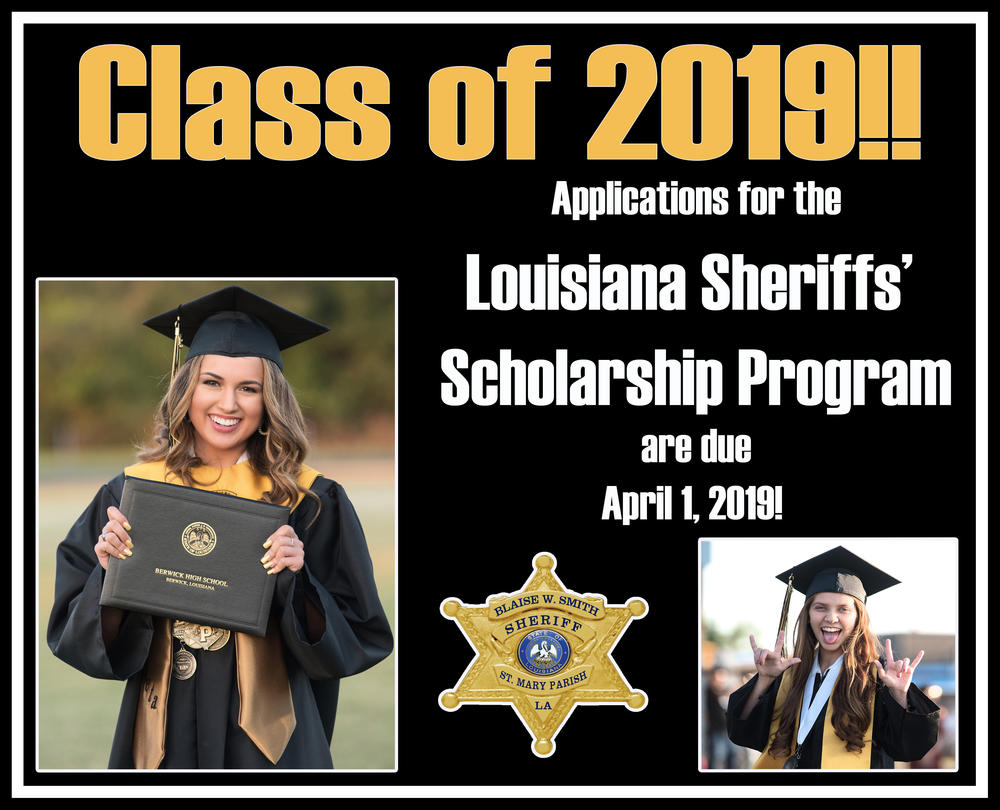 Class of 2019 Louisiana Sheriffs' Scholarship Program