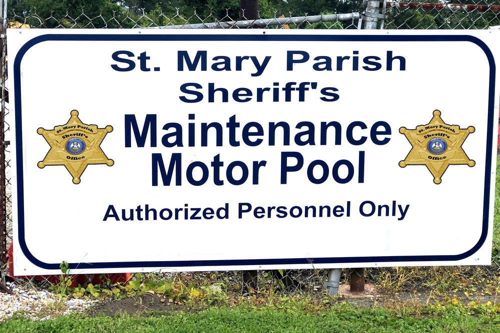 St. Mary Parish Sheriff's Office Motor Pool sign