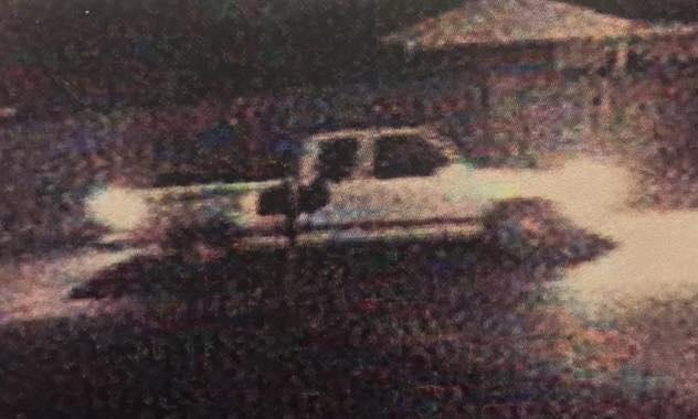 white truck from security camera footage